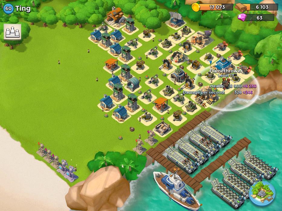 Utiliza tu mejor estrategia en Boom Beach (2)