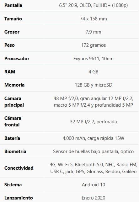 Samsung A51 características